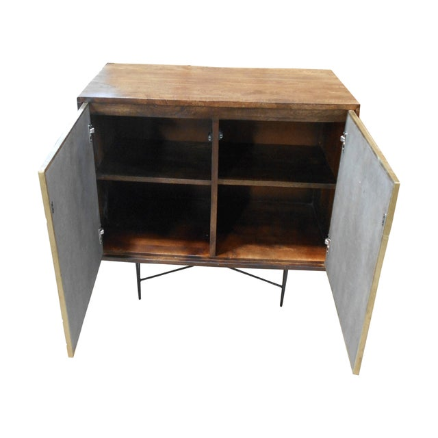 Contemporary Wooden Metal Living Room Cornell Chest Cabinet - Image 4 of 10