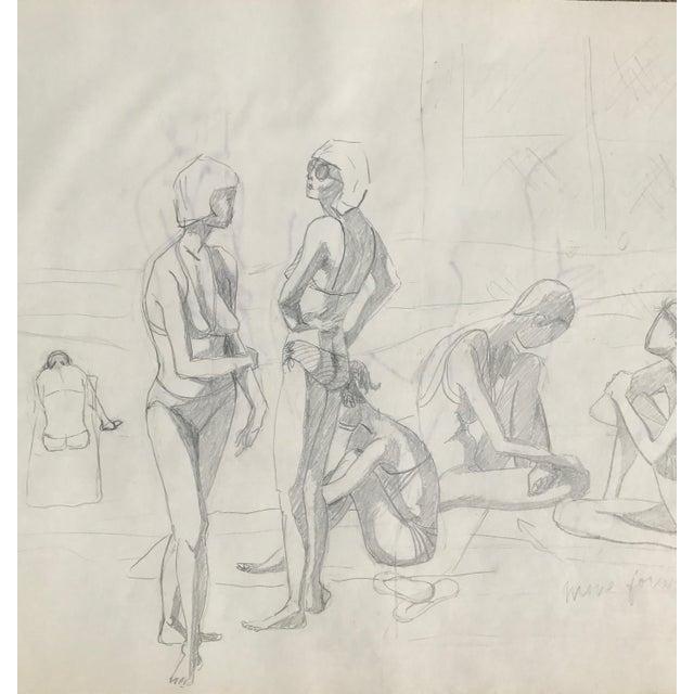 Original Midcentury California Bikini Sketch - Image 5 of 5