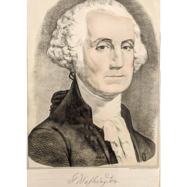 Vintage Portrait Print of George Washington by Currier and Ives For Sale - Image 4 of 6