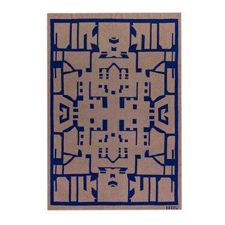 Maison Leleu - Totem Blue Cashmere Blanket, 51' X 71' For Sale