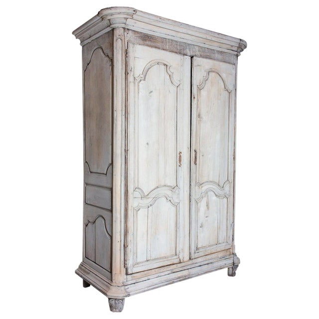 19th Century Antique French Oak Armoire For Sale