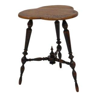 Sarreid Ltd. Turned Leg Tripod Side Table For Sale