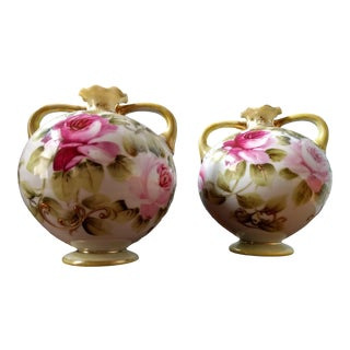 19th Century Nippon Vases-a Pair For Sale
