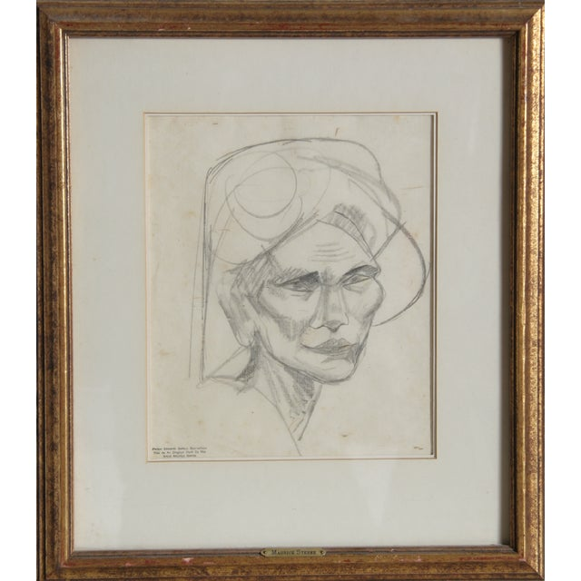 Maurice Sterne - Portrait of a Bailnese Woman - Image 2 of 2