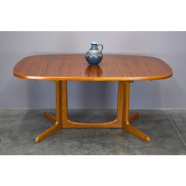 Danish Modern N.O. Moller / Gudme Danish Teak Dining Table For Sale - Image 3 of 11