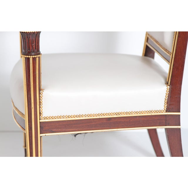 Gold French Empire Fauteuil by Ébéniste Jacob-Desmalter, Circa 1820 For Sale - Image 8 of 9