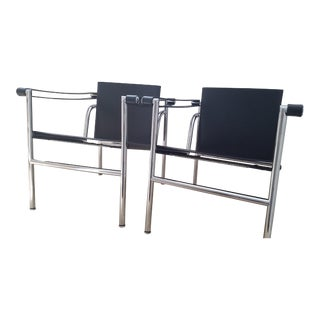 Le Corbusier Lc1 Sling Chairs- a Pair For Sale
