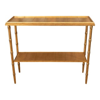 Gold Console Table For Sale
