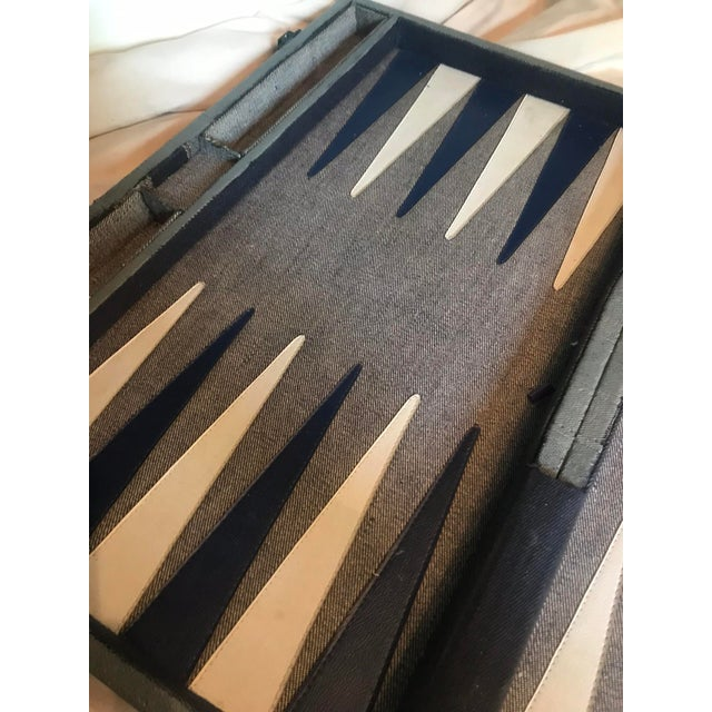 Vintage Mid Century Modern Bakelite Backgammon Game For Sale - Image 9 of 11