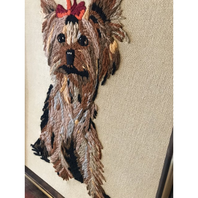 Handmade Framed Yorkie Dog - Image 9 of 10