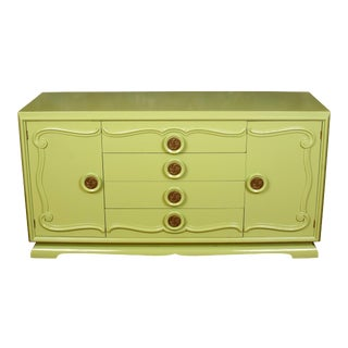 Midcentury Credenza Painted Green, circa 1960 For Sale