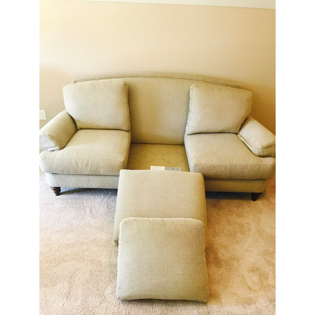 Ethan Allen Cream Sofa - Image 5 of 5