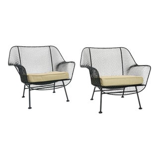 1960s Vintage Woodard Sculptura Lounge Chairs- a Pair For Sale