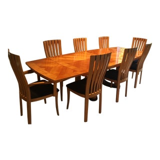 Excelsior Cherry Dining Room Table and Chairs Set For Sale