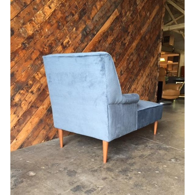 Mid Century Reupholstered Tufted Extended Lounge Chair - Image 6 of 7