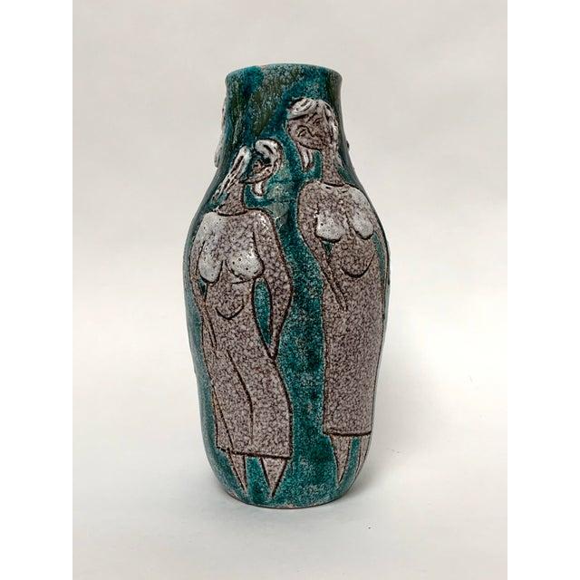 Gambone and Fanciullaci Style Italian Mid-Century Modern Ceramic Vase For Sale - Image 13 of 13
