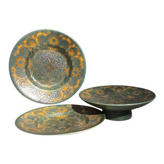 Mid-Century Collection of Art Pottery Dinnerware - Set of 3 For Sale