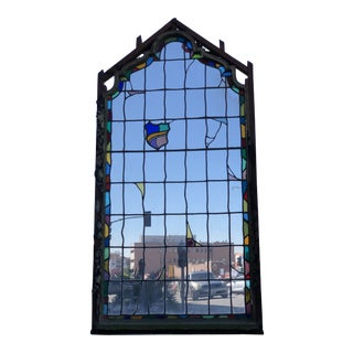 1920s Spanish Style Stained Glass Window For Sale