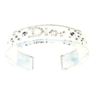 "20th Century Christian Dior Lucite & Swarovski Crystal ""Dior"" Cuff Bracelet For Sale"