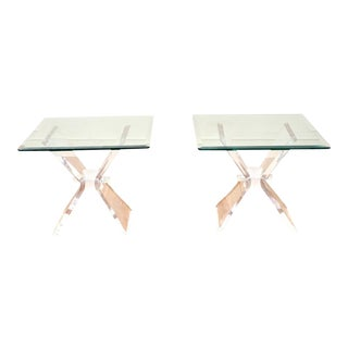 1960s Lucite End Tables - a Pair For Sale