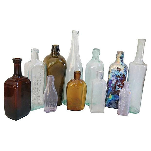 Antique Multicolor Bottle Collection - Set of 11 - Image 2 of 2