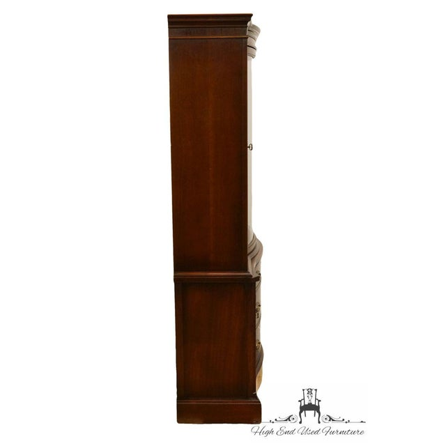 20th Century Traditional Bassett Furniture Old Shirley Collection Bow Front China Display Cabinet For Sale - Image 10 of 13