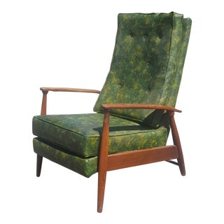 Milo Baughman Early Mid-Century Modern Recliner For Sale