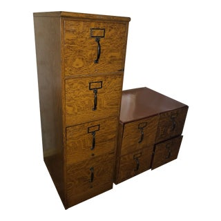 Globe Wernicke Industrial Metal File Cabinets - a Pair For Sale