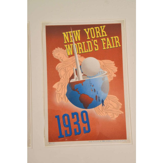 1930s 1939 Art Deco Machine Age Original New York World's Fair Posters Triptych For Sale - Image 5 of 9