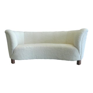 1940s Slagelse Mobelvaerk Danish Banana Sofa For Sale