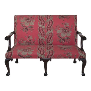 Kittinger Cw-154 Colonial Williamsburg Mahogany Settee For Sale