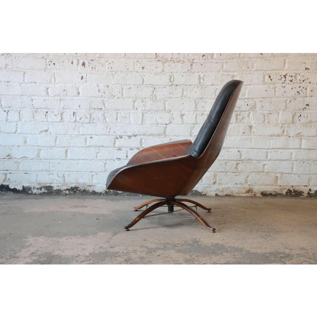 """George Mulhauser for Plycraft """"Mr. Chair"""" and Ottoman For Sale In South Bend - Image 6 of 10"""