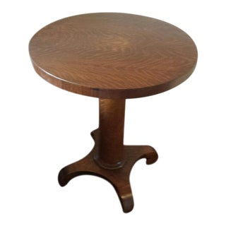 Oak Round Parlor Table For Sale