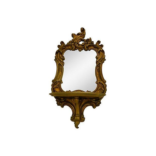 Rococo-Style Shelves Mirrors - A Pair - Image 4 of 4