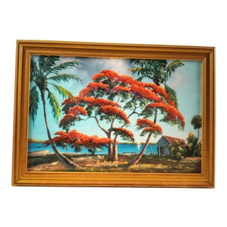 Contemporary Florida Landscape Highwayman Painting by Lemuel Newton, Framed For Sale