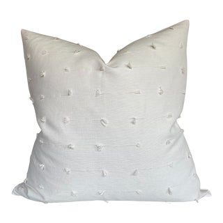 Teton Woven Pillow Cover in Snow For Sale