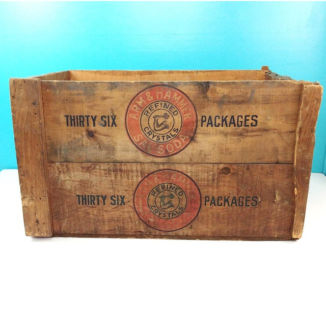 Vintage Arm & Hammer Soda Wood Shipping Crate - Image 5 of 7