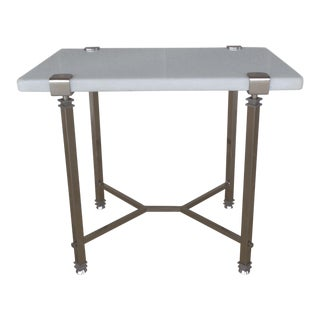 Bernhardt Furniture Designer Modern Style Marble Top Accent Table For Sale