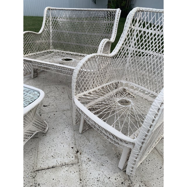 Spray Paint Russell Woodard Glider Loveseat & Glider Chairs Set - 5 Pieces For Sale - Image 7 of 13