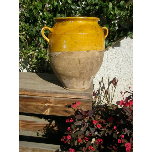 19th Century Country French Rustic Yellow Pot For Sale - Image 9 of 12