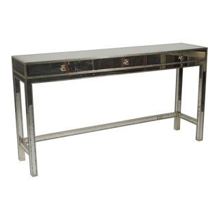 20th Century Art Deco John Richard Mirrored Modern Console Table