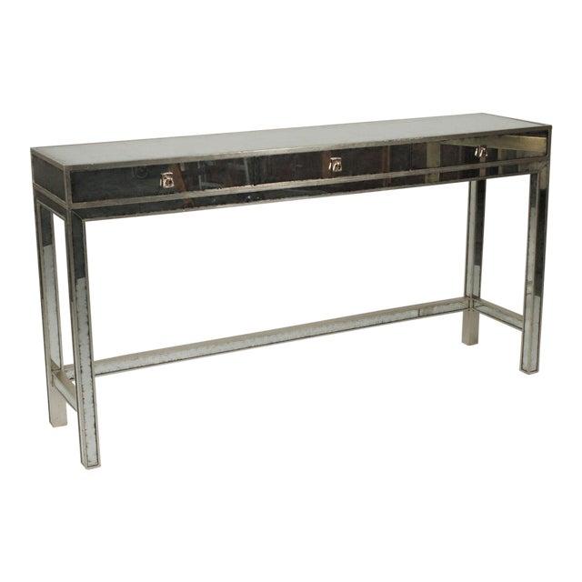 20th Century Art Deco John Richard Mirrored Modern Console Table For Sale