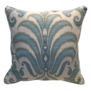 Custom Made Ivory Damask Down Pillow