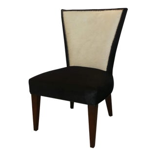 Black and White Hair on Hide Accent Chair For Sale