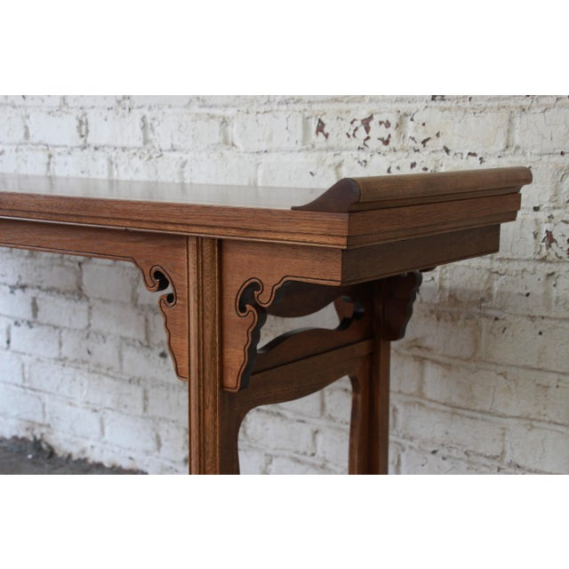Burlwood Beautiful Burled Altar Table by Baker For Sale - Image 7 of 11