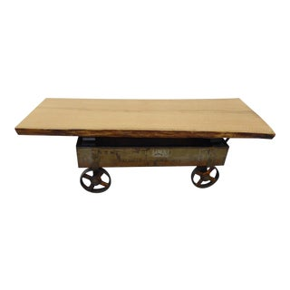 Baldwin Tuthill & Co. Industrial Cart Coffee table