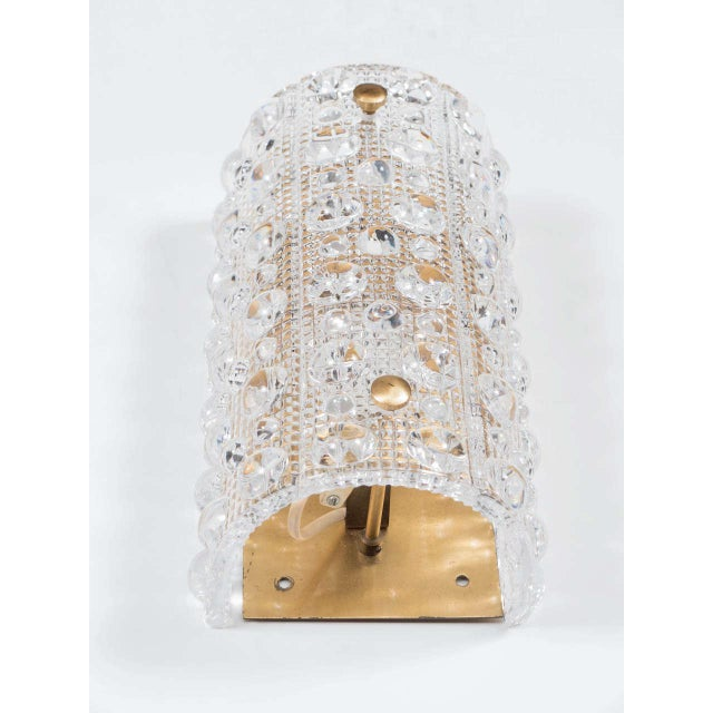 1960s Gorgeous Mid-Century Modernist Handblown Glass Sconce by Orrefors For Sale - Image 5 of 6