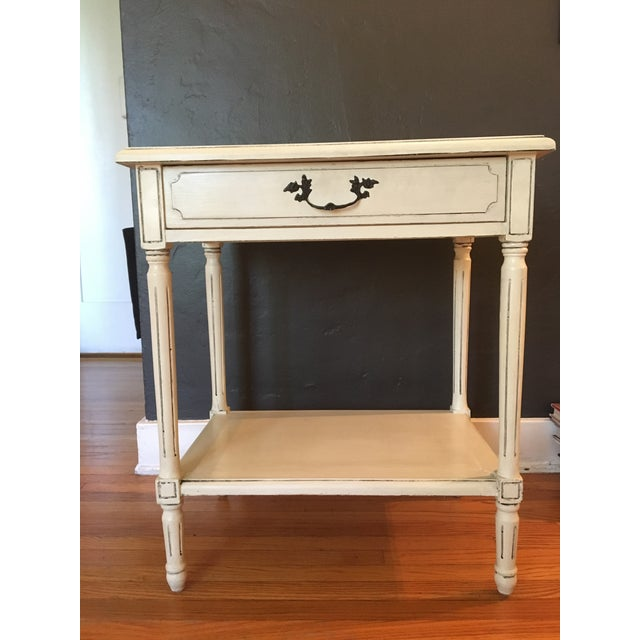 Vintage French White Washed Entry Table - Image 2 of 5