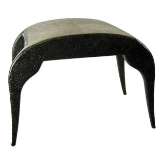 R & Y Agousti French Style Ebony & Shagreen Bench