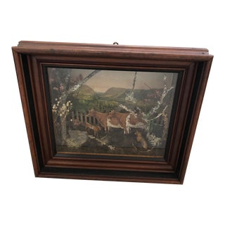 Folk Art Diorama Shadow Box For Sale